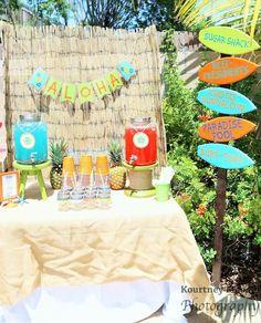 Surfer Boy Luau birthday party via Kara's Party Ideas KarasPartyIdeas.com #surfparty #luauparty #surferboy Printables, cake, supplies, games, cupcakes, and more! (53)
