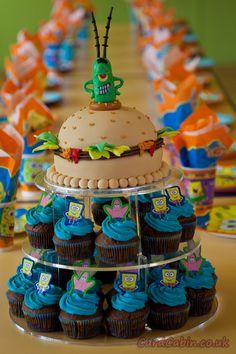 Spongebob Krabby Patty cupcake stand