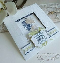 Stampin & Beyond: Vintage Leaves Masculine Cards, Plein Air, Diy Cards, Stampin Up Cards, Leaves, Card Ideas, Choose Happiness, Happy, Holiday