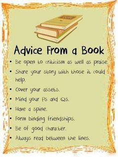 Advice from a book