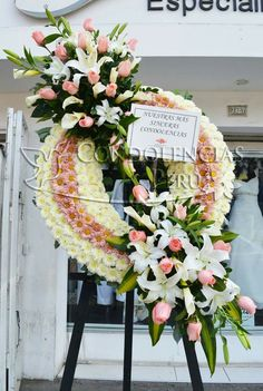 Funeral Floral Arrangements, Large Flower Arrangements, Flower Arrangement Designs, Artificial Floral Arrangements, Condolence Flowers, Sympathy Flowers, Wreaths For Funerals, Altar Flowers, Memorial Flowers