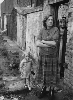 Impoverished Liverpool family, 1957.