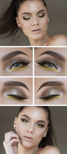 How to Chic: GRAPHIC YELLOW MAKE UP BY LINDA HALLBERG