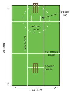 Cricket pitch diagram.