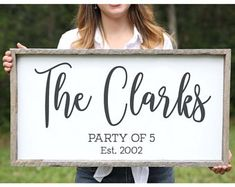 Christmas Gift from Wife Wood Wedding Gift Adoption Gifts Personalized Family Gift for Adoption Day Family Decor Anniversary Gift for Wife - Knot & Nest's farmhouse signs are handmade in our wood shop in Florida and can be customized in A -