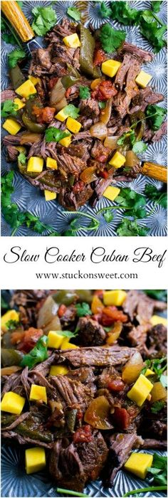 Slow Cooker Cuban Beef | Easy weeknight recipe | www.stuckonsweet.com