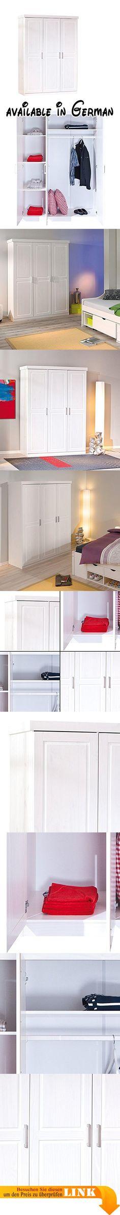 B00DMW0L6Q  3trg massiv Kiefer Mexico Kleiderschrank \ - schlafzimmerschrank weiß hochglanz