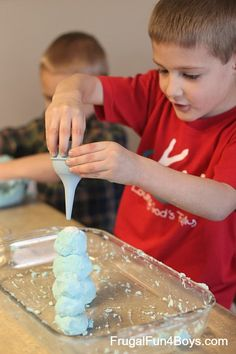 Magic Foaming Dough from 150+ Screen Free Activities for Kids