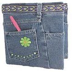 Caderno com capa de blue jeans