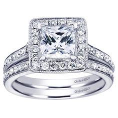 I would like a princess cut 2 CARAT VVS2 or better white gold engagment ring similar to this one.