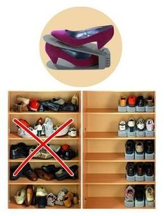 Organizing systems: the 8 most useful parts for your home - # storage ., Organizing systems: the 8 most useful parts for your home - # useful home. Home Organisation, Closet Organization, Organization Ideas, Organizing Shoes, Closet Shoe Storage, Billy Regal Ikea, Organizar Closet, Shoe Organizer, Closet Designs