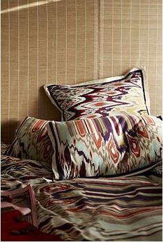 Ikat bedding from Anthropologie