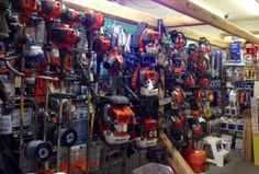 Stop by the store to look over our Husqvarna display! Any of this equipment will make a perfect gift for that hard working man in your life or as a great present for yourself!