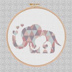 Cross Stitch pattern baby elephant elephant Pattern modern