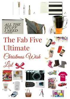 Looking for the ULTIMATE Holiday Gift Guide all in one place? Check out our Christmas wish list for everyone!