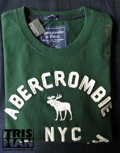 Áo thun Abercrombie xanh rêu NYC áo thun cao cấp chất liệu 100% cotton cộng đường may sắc nét sẽ làm bạn rất thích khi mặc đặc biệt với quần short