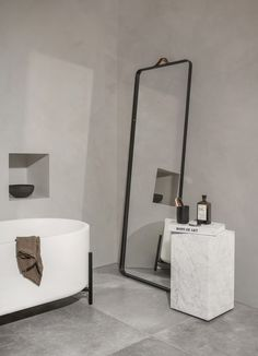 Bathroom inspiration | Floor mirror available at www.istome.co.uk
