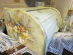 """Купить Хлебница """"Полевые цветы """" - ретро, кухня, винтаж, интерьер, подарок, фисташковый, хлебница"""