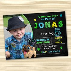 Puppy Birthday Parties, 3rd Birthday, Birthday Ideas, Three Year Olds, Jpg File, Printed Materials, Birthday Party Invitations, First Birthdays, Party Time