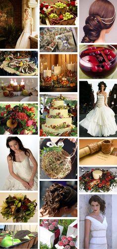Modern medieval wedding theme