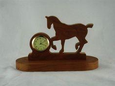 Prancing Horse Desk Or Shelf Clock Handmade From by KevsKrafts, $28.97