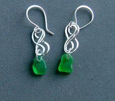 Handmade Celtic Emerald Green Seaglass by silvermermaidjewelry, $40.00