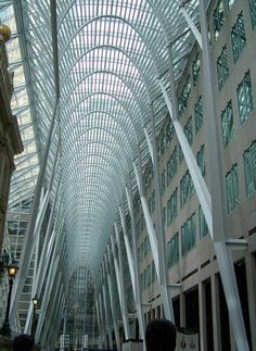 The Allen Lambert Galleria – Toronto ON    Design: Santiago Calatrava   Client: Brookfield Place   Date: 1992