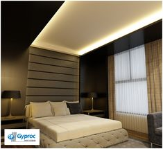 Cover your single wall with artistic wallpaper to give your home a sophisticated look. Visit www.gyproc.in