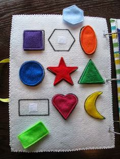 Quiet Book Ideas for Kids - Quiet Book Ideas for year old quiet book - first birthday gift for girl - 2 year old busy book - toys for 1 year olds - montessori - felt book - learning year old quiet book first birthday gift for girl 2 year Kids Crafts, Baby Crafts, Toddler Crafts, Craft Kids, Infant Activities, Book Activities, Therapy Activities, Preschool Activities, Sewing Crafts