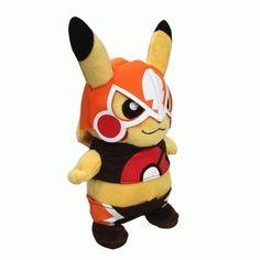 Pokemon Pikachu Masked Plush Toys Pokemon fun merchandise and things http://shopokemon.com/shop/pokemon-toys/pokemon-pikachu-masked-plush-toys/