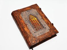 """Very large leather journal, """"A tale from Transylvania"""", gothic style, with 560 pages and 10.4x14.5inch (26x36.5cm), in gift box. by dragosh on Etsy"""