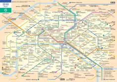 Paris Subway Map, One Day!