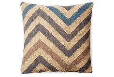 Chevron 20x20 Wool-Blended Pillow, Taupe on OneKingsLane.com