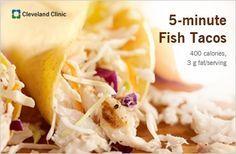 5-minute fish tacos: low-fat, healthy and QUICK! #fish #fishtaco #vegetarian #recipe