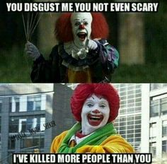 Don't let these clowns scare you! Plexus fights cravings along wirh controlling lips and blood sugar levels. #plexus #dplexuspower #lifechanging