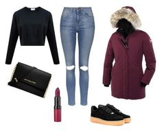 """""""Winter"""" by amuramasri on Polyvore featuring Canada Goose, Topshop, NIKE, MICHAEL Michael Kors and Rimmel"""