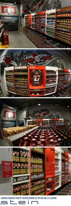 """A number one placement for a number one beer.  STEIN Promotions honored the popular """"Kiez-Beer"""" with a special brand corner at the new EDEKA store in ST. Pauli.  #POS #Beer"""