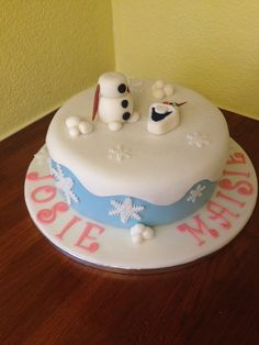 Frozen cake by Angell cakes