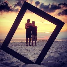 Beach vacation photo idea use black foam board FRAME !