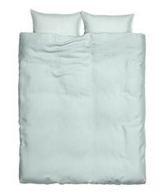 King/Queen Linen Duvet Set | Product Detail | H&M