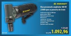 Biax pneumatic unghiular 400 W 23000 rpm cu penseta de 6 mm RC7128 RODCRAFT