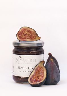 black fig jam to refine normal breakfast with oriental fruits Product Photography, Photography Ideas, Jam Jar Labels, Green Fig, Black Fig, Fig Jam, Food Concept, Fig Tree, Dried Fruit