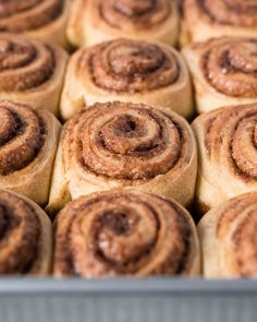 Baked sourdough cinnamon rolls