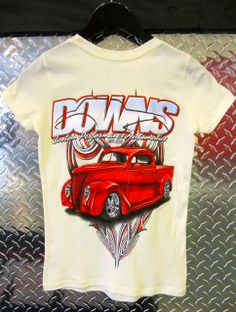 Downs Custom Performance Automotive - Women's 1937 Ford Pickup Short Sleeve T-Shirt, Oatmeal, $24.99