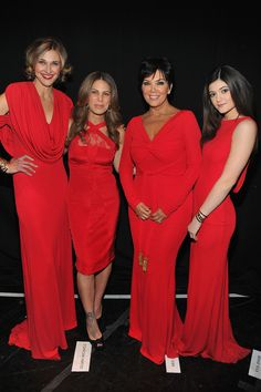 Brenda Strong, Jillian Michaels, Kris and Kylie Jenner pose backstage at the Heart Truth 2013 Fashion Show at Hammerstein Ballroom on February 6, 2013 in New York City. (February 5, 2013 - Source: Theo Wargo/Getty Images North America) more pics from this album »