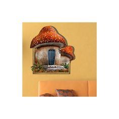 Art Mural - Stickers Muraux - 3D Sticker mural - Art mural Papier 3D Champignon Accueil revêtements muraux PVC sticker lavables mur Sticker Mural, Art Mural, Clock, Bird, Stickers, Outdoor Decor, Wall, Home Decor, 3d Paper