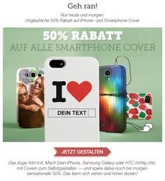 50% Rabatt auf alle Smartphones! Jetzt gestalten auf www.t-shirt-mit-druck.de/lustige-smartphone-huelle-gestalten.htm mit Gutscheincode: TELE50 / gültig bis 28.05.2014.