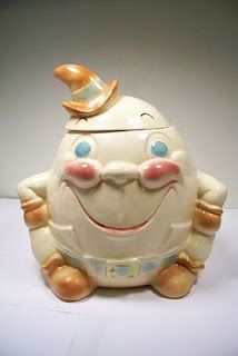 Vintage Brush Humpty Dumpty cookie jar. My Aunt had this one!