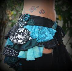 SO CUTE! | Circus Ruffle Bustle Mermaid Blues size L by Wickedharem