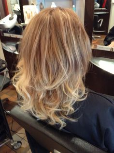 Soft mocha Ombre fading to beige blonde and platinum blonde.
